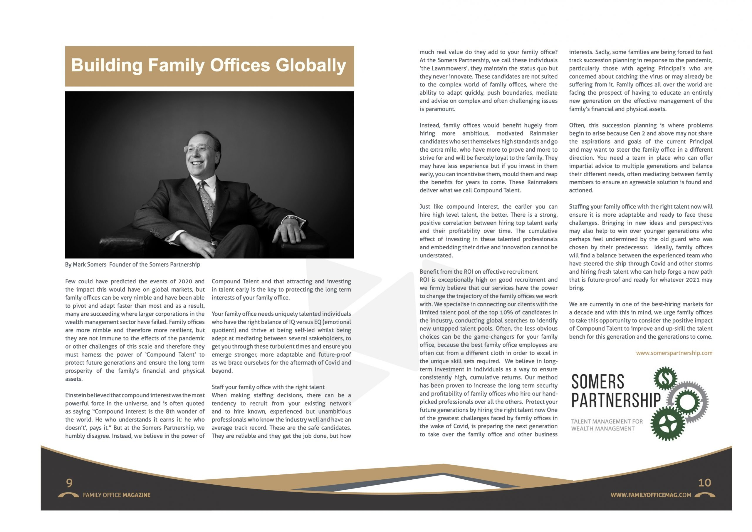 The Billionaire's Headhunter in Family Office Magazine